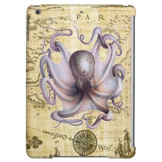 Vintage octopus iPad air cases