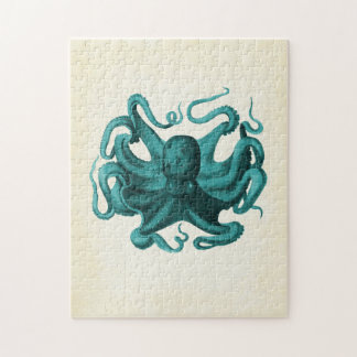 Vintage Octopus Jigsaw Puzzle