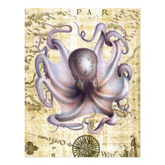 Vintage octopus letterhead
