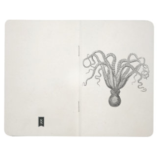 Vintage Octopus Poulpe Eight Armed Cuttle Fish Journal