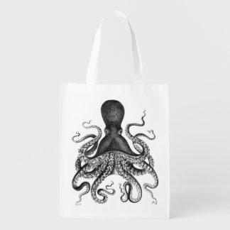 Vintage Octopus Reusable Grocery Bag