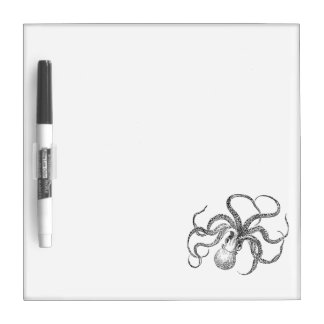 Vintage Octopus Template Dry Erase Boards