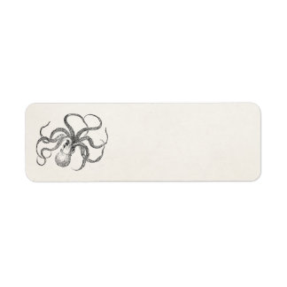 Vintage Octopus Template on Antique Paper