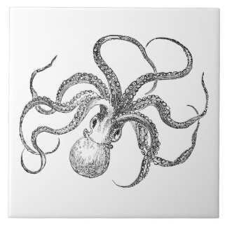 Vintage Octopus Template Tile