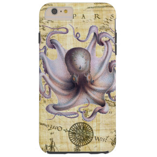 Vintage octopus tough iPhone 6 plus case