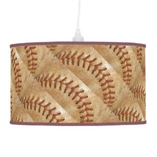 Vintage Off White Baseball  diamond Hanging Pendant Lamp