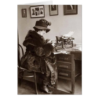 Vintage Office - Shivering in a Cold Office, Card