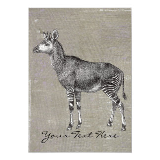 Vintage Okapi Card