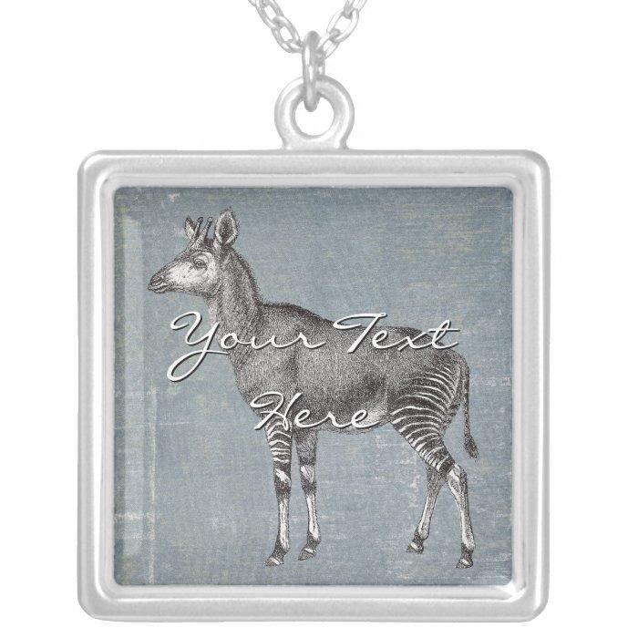 Vintage Okapi Silver Plated Necklace