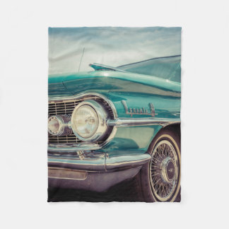 Vintage Old Antique Automobile Fleece Blanket