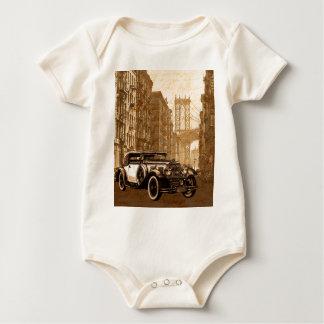 Vintage Old car Baby Bodysuit