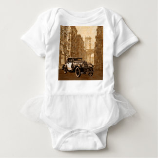 Vintage Old car Baby Bodysuit