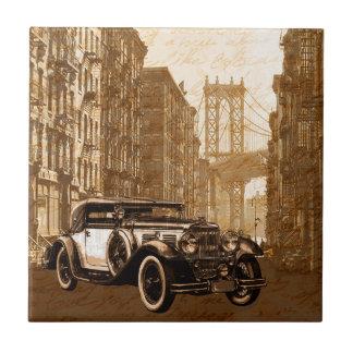 Vintage Old car Ceramic Tiles