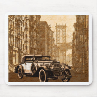 Vintage Old car Mouse Pad