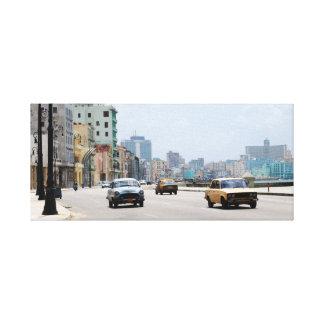 Vintage old cars of La Havana Canvas Prints