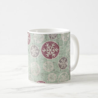 Vintage Old Christmas Snowflake Pattern Coffee Mug