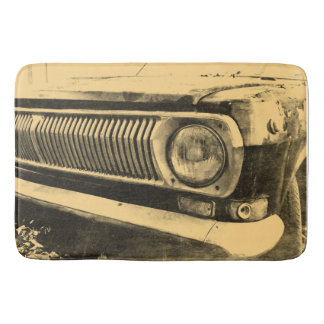 Vintage Old Classic Car Headlights Bath Mat