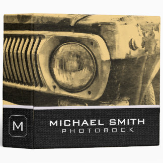 Vintage Old Classic Car Headlights Binder