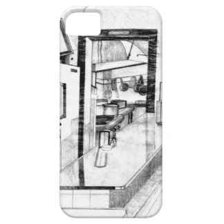 Vintage Old Country Diner Americana Drawing iPhone 5 Case