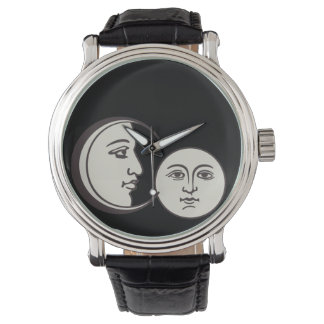 vintage old face and moon watch