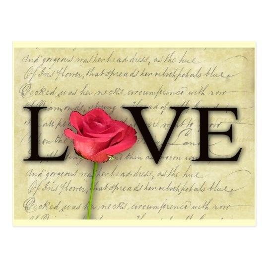 Vintage Old Fashioned Love Postcard