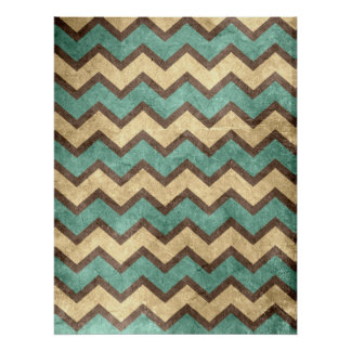 vintage old grungy paper effect chevron zigzag poster
