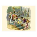 Vintage Old King Cole Nursery Rhyme Fairy Tale Post Card