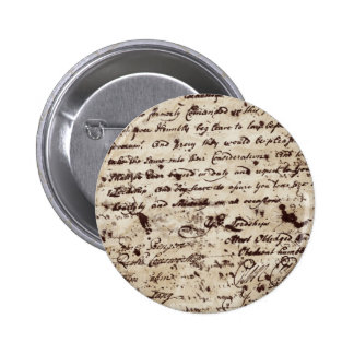 Vintage Old letter 2 Inch Round Button