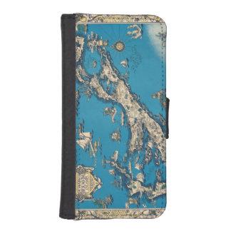 Vintage Old Map of the Bermuda Islands Phone Wallet Case