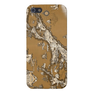 Vintage Old Map of the Bermuda Islands Sepia Tone iPhone 5/5S Case