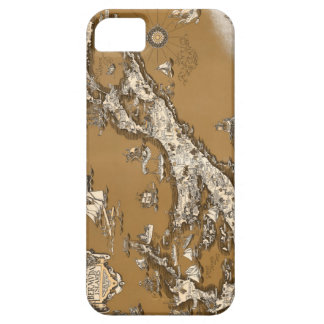 Vintage Old Map of the Bermuda Islands Sepia Tone iPhone 5 Case