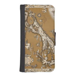 Vintage Old Map of the Bermuda Islands Sepia Tone Phone Wallet Cases