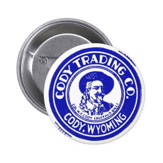 Vintage Old Matchbook Cody Trading Company 2 Inch Round Button
