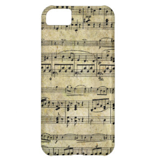 Vintage Old Music Notes Paper Texture Case For iPhone 5C