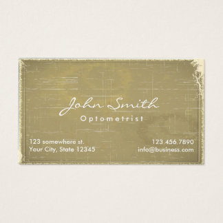 Vintage Old Paper Optometrist Business Card