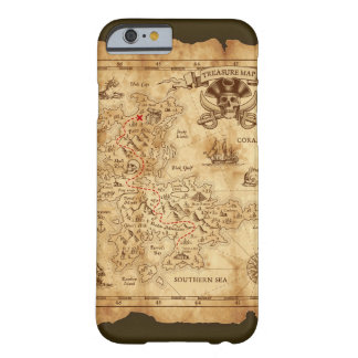 Vintage Old Pirate Treasure Map X Marks the Spot Barely There iPhone 6 Case