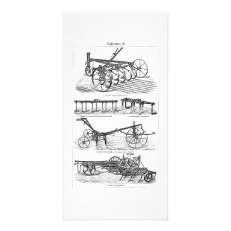 Vintage Old Plows Farm Equipment Agriculture Plow Photo Cards