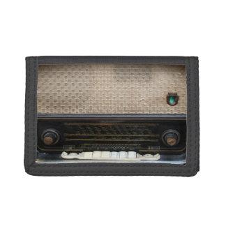 vintage old radio wallet
