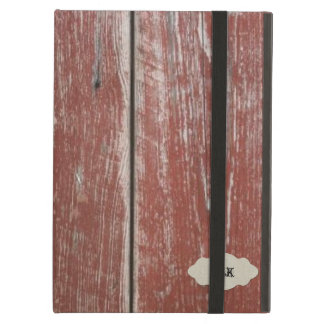 Vintage Old Red Barn Wood Look Personalized Case For iPad Air