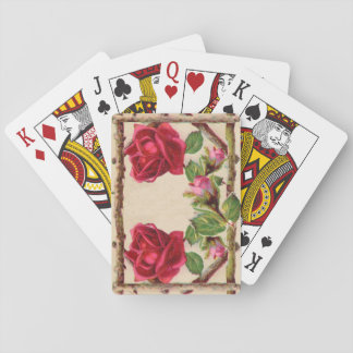 Vintage Old Rose Rustic Victorian Antique Poker Deck