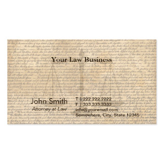 Vintage Old Scripts Lawyer Business Cards