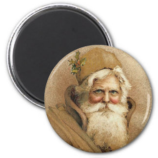 Vintage Old St. Nick Christmas Magnet