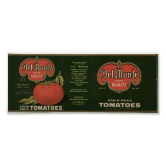 Vintage Old Tomatoes Fruit Crate Labels Poster