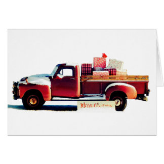 Vintage Old Truck Country Christmas Greeting Card