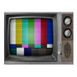 Vintage Old TV Retro Nostalgia Postcard
