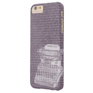 Vintage Old Typewriter & Scripts Elegant Barely There iPhone 6 Plus Case