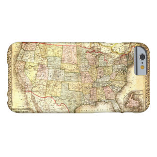 Vintage Old United States USA General Map Barely There iPhone 6 Case