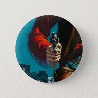 Vintage Old West Gunslinger Cowboy 2 Inch Round Button