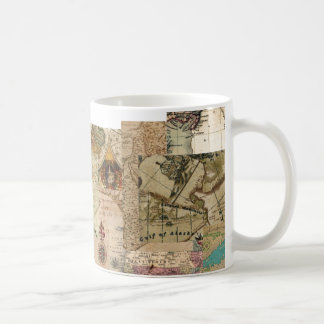 Vintage Old World Antique style maps on mug