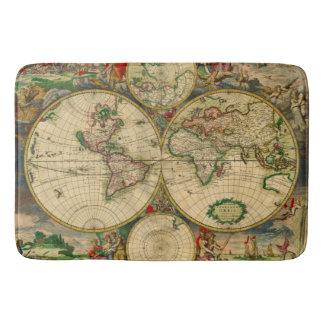 Vintage old world Map Bath Mat